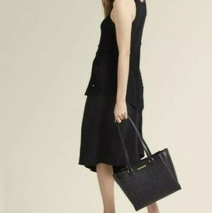 Dkny nappa leather womens quilted tote
